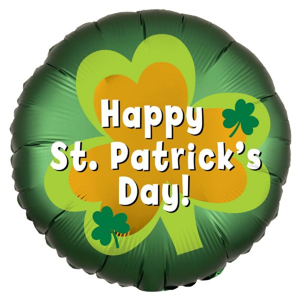 St. Patrick's Day Satin Luxe Standard HX Foil Balloon